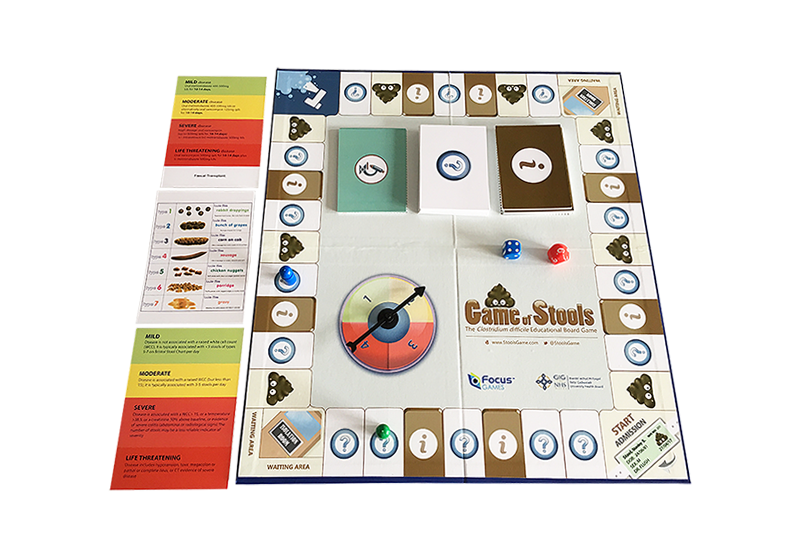 Picture of the opened board game